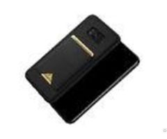 Skin Friendly Samsung Cell Phone Covers S8 Plus Pu Leather Slip Resistant Black Color
