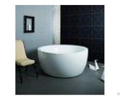 Cheap Deep Soaking White Color Round Freestanding Bathtub For Small Bathrooms Elegant