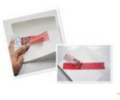 Pet Adhesive Security Labels Tamper Proof Tags With Water Glue