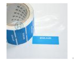 Tamper Proof Warranty Void Labels Non Residue With Custom Die Cut