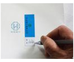 Signature Bank Checking Non Residue Security Labels With White Writing Paper