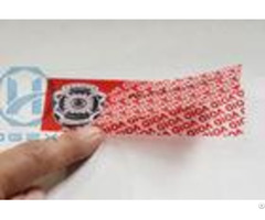 Anti Counterfeit Tamper Evident Seals Tape With Multi Color Printing