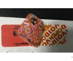 Double Two Layer Tamper Evident Security Labels With Yellow Void Stickers