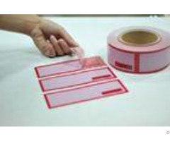 Digital Number Printed Packing Tape Tamper Seal Stickers With Perforation 100mm