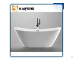 1800mm Long Oval Freestanding Tub With Pop Up Drain Customized Color