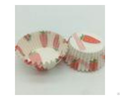 White And Red Greaseproof Cupcake Liners Disposable Baking Paper Cup Mini Strawberry Pattern