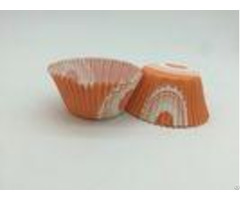 Orange Greaseproof Cupcake Liners Carrot Muffin Cake Mould Custom Shape Paper Cup