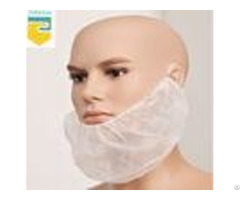 Melt Blown Fabric Disposable Beard Nets Fluid Resistant For Sanitary Protection