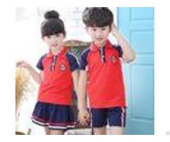 Summer Short Sleeve Teen School Uniform Comfortable Hit Color Shoulder Stitching