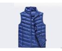 Polyester Pad Material Mens Winter Work Vest Zipper Style Solid Color With Twill