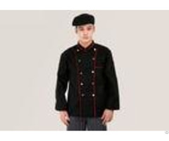 Anti Pilling Cook Cool Chef Coats Standard Small Sleeve With Buttons And Pockets