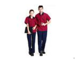Red Color Professional Industrial Work Uniforms Good Hygroscopic For Engineers