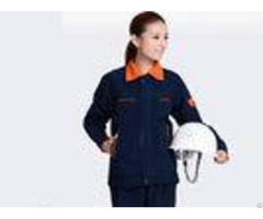 Orange Lapel Long Sleeve Waist Industrial Work Uniform High Visibility Safety Flexibility