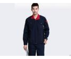 Contrast Color 100% Cotton Mechanic Work Uniforms Pull Resistant Fashion Personality