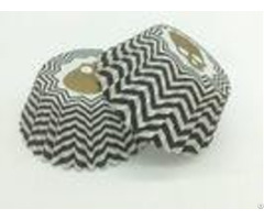 Zombie Head Black And White Striped Cupcake Liners Single Wall Various Size