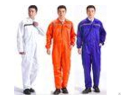 Breathable Flame Retardant Insulated Coveralls Anti Wrinkle With Reflective Tape