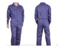 Mens Summer Flame Retardant Insulated Coveralls Dark Blue Tc Twill Midleweight