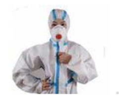 Full Length Disposable Hazmat Coveralls Anti Wrinkle Against Chemical Dust