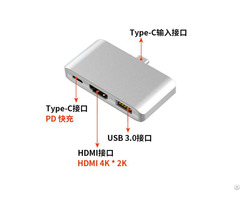 Type C 3 In 1 Charging Hub With Hdmi And Usb