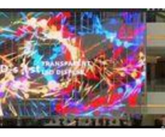 High Precision Large Transparent Led Screen Super Thin P7 81 Video Photos