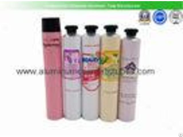 Hair Color Cream Aluminum Squeeze Tubes Silk Screen Printing Non