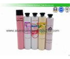 Hair Color Cream Aluminum Squeeze Tubes Silk Screen Printing Non Spill Eco Friendly