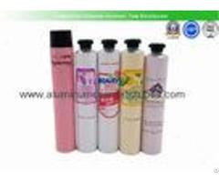 Hair Color Cream Aluminum Squeeze Tubes Silk Screen Printing Non Spill Eco Friendly