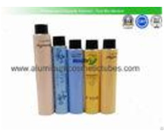 Hand Cream Aluminum Cosmetic Tubes Silk Screen Printing Light Weight 100% Recyclable