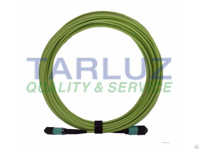 Mpo Mtp 24 Fiber Patch Cable Assembly Om5 Lime Green