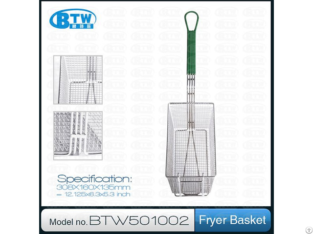 High Quality Stainless Steel Kitchen Fryer Pasta Basket