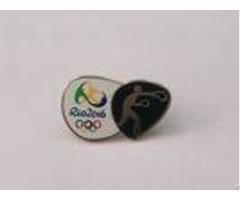 Gold Plating Hard Enamel Lapel Pins Die Struck With Silk Screen Printing
