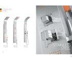 Apartments Model Rooms Stainless Steel Shower Panel Free Standing Type