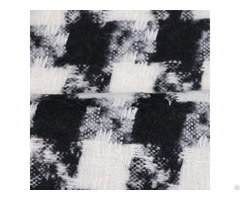 Black White 100%polyester Diamond Swallow Gird Woven Fabric
