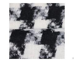 Black White 100%polyester Diamond Swallow Gird Woven Fabric