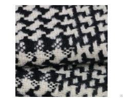 100%polyester Black And White Swallow Gird Woven Fabric