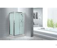 Massage Rooms Clubs Rectangular Clear Glass Shower Enclosures With Tray