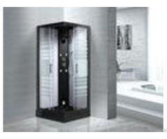 Matt Black Profiles Sliding Glass Door Shower Enclosure Kits For Star Rated Hotels