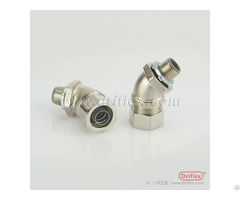 Hot Selling Nickel Plated Brass 45d Angle Liquid Tight Conduit Fittings