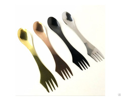 Wholesale Customized Stainless Steel Gold Spoon And Fork Spork