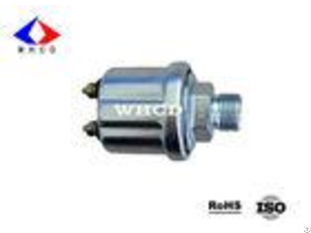 White Zinc Plated M18x1 5 Mechanical Oil Pressure Sensor For Cummins Engine