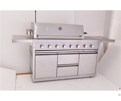 Outdoor 6 Burner Premium Gas Grill With Double Drawers And Doors
