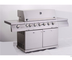 Full Stainless Steel 6 Burner Freestanding Outdoor Gas Grill With Doors