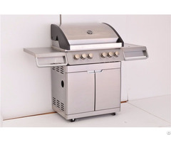 Freestanding Steel 4 Burner Outdoor Gas Grill With Doors