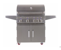 Outdoor 34 Inch Freestanding Propane Gas Grill With Rear Infrared Burner