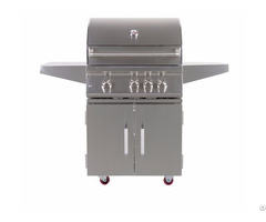 Outdoor 28 Inch 3 Burner Freestanding Propane Gas Grill