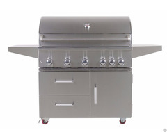 Outdoor 42 Inch 5 Burner Freestanding Propane Gas Grill