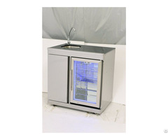 Stainless Steel Outdoor Single Door Cabinet With Sink And Fridge