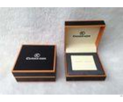 Handmade Elegant Mens Watch And Cufflink Jewelry Box Logo Customized