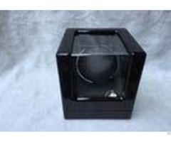 Black Wood Gents Watch Storage Box With Velvet Pillow Insert Logo Custom