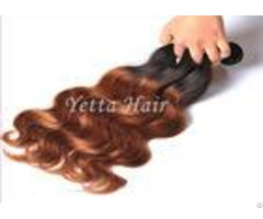 Stock Black Yellow Ombre Virgin Hair Weave Body Wave For Women